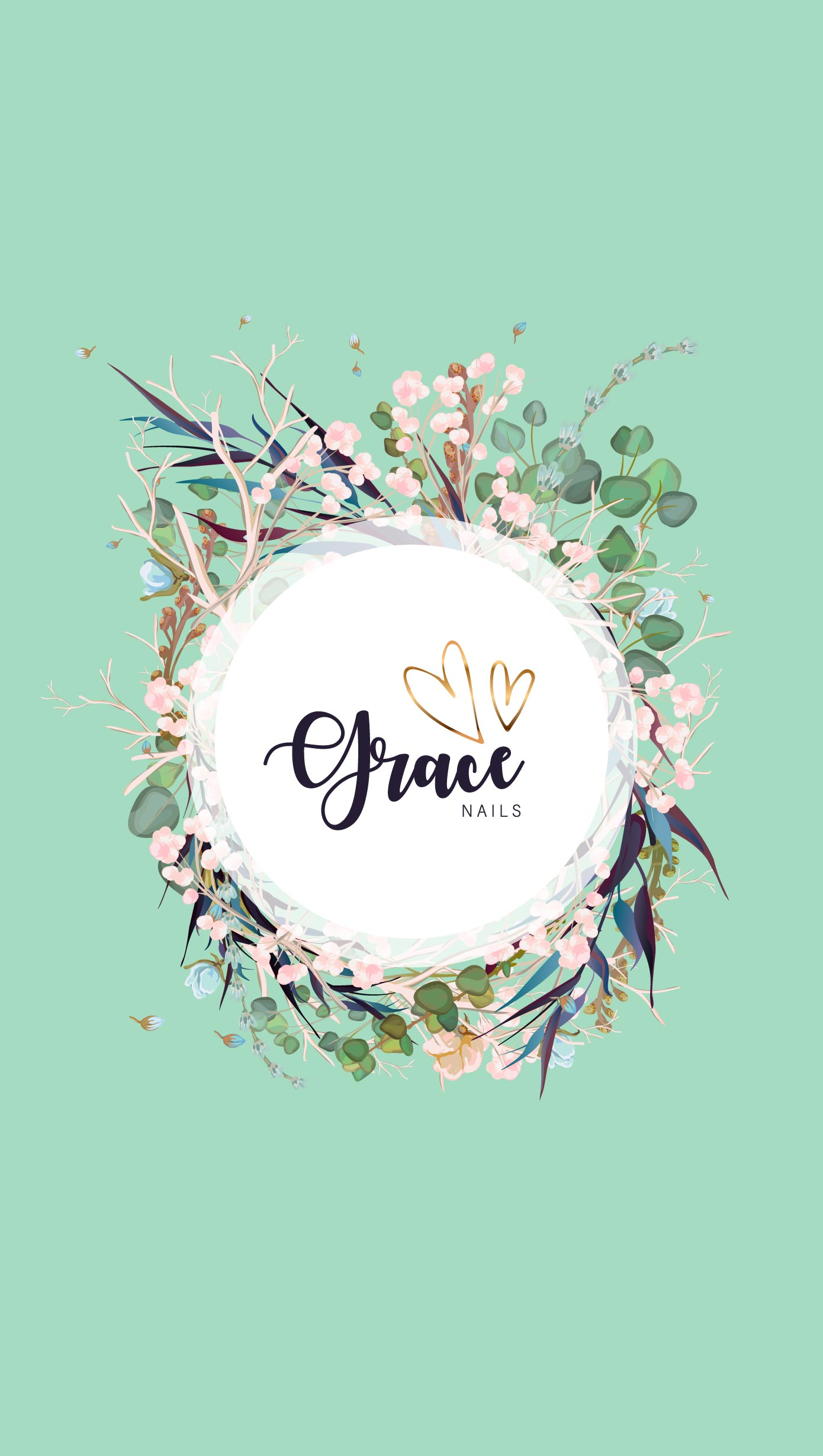 Grace Nails Logo Design