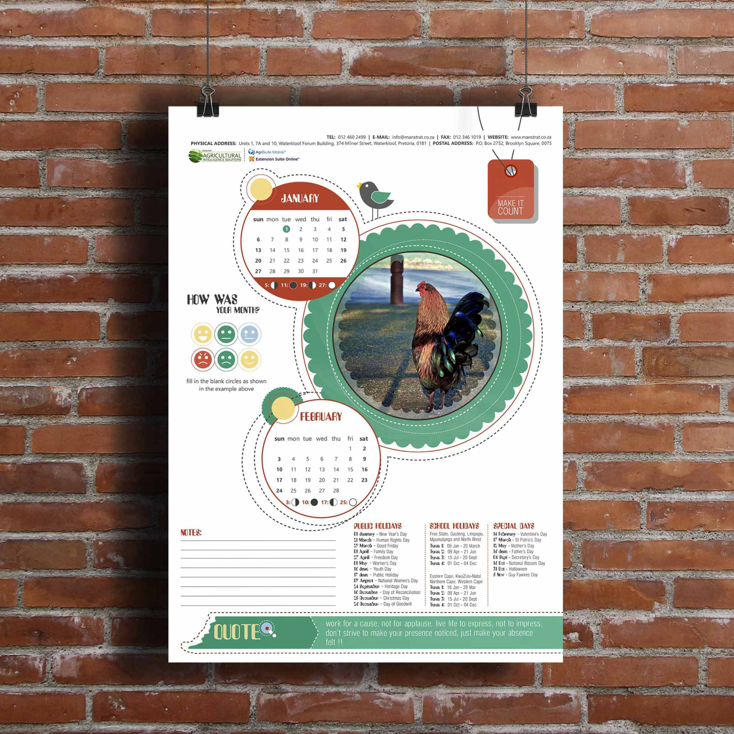 Manstrat Calendar Design