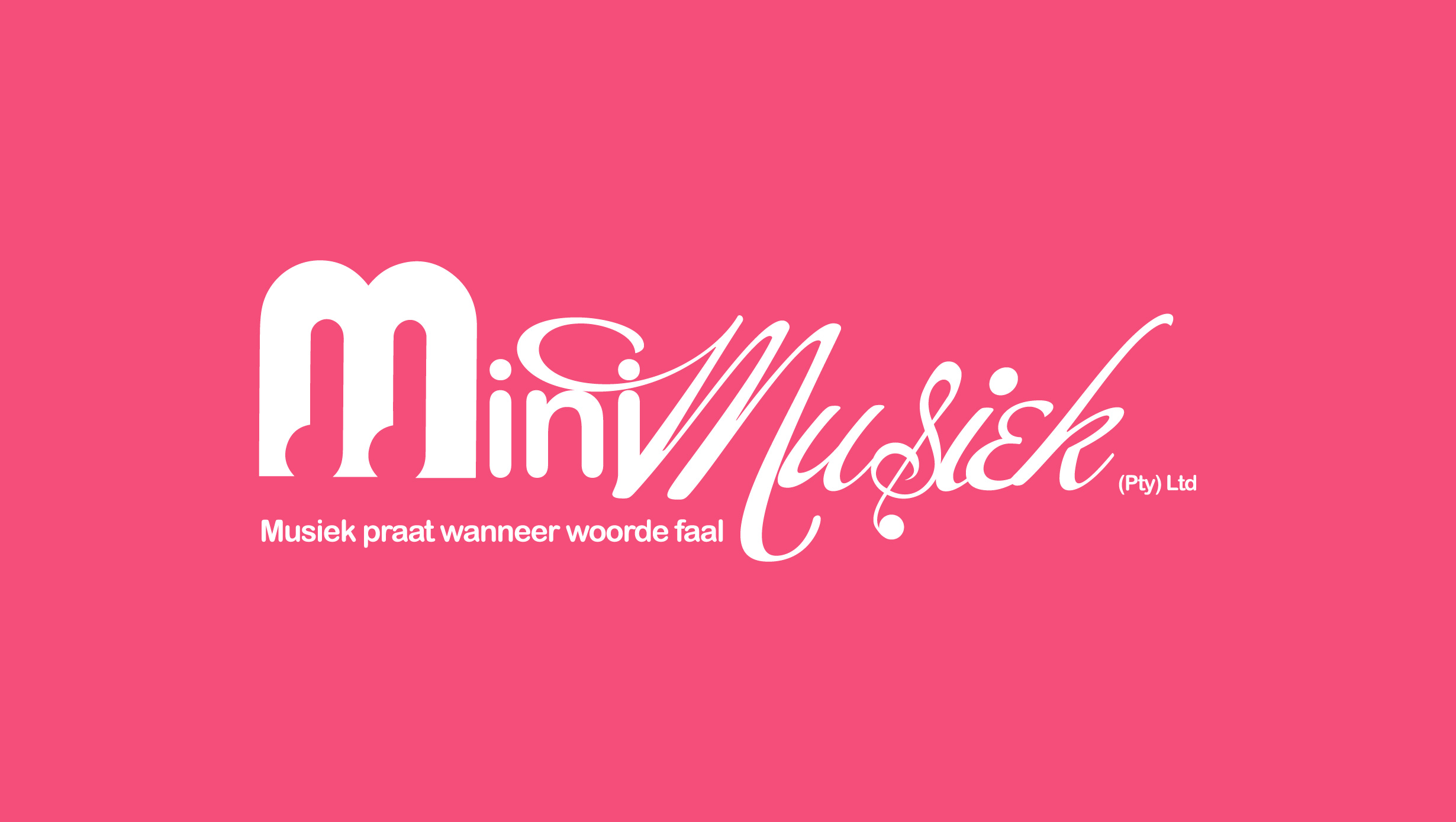 MiniMusiek Logo Design