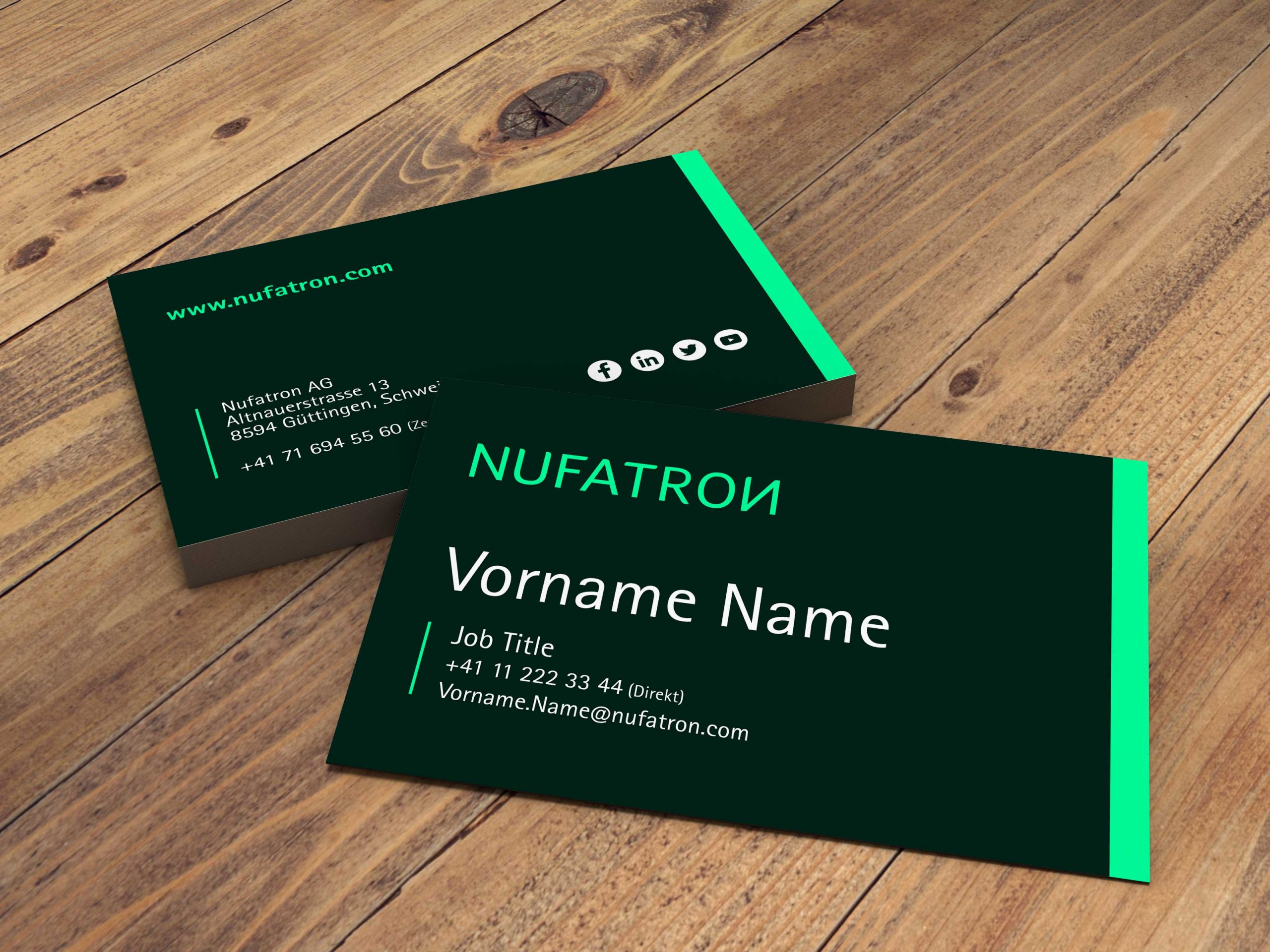 Nufatron Business Card Design